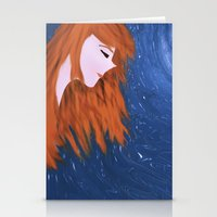 amy pond Stationery Cards featuring Amy by Jo Christine
