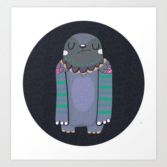 Gray monster Art Print
