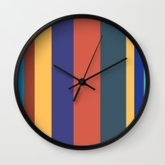Color Band 70's - B - Stripe Wall Clock