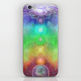 Chakra Activation Geometry Template iPhone Skin