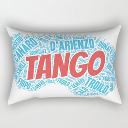 Argentine Tango Orchestras on Blue Bandoneon Rectangular Pillow