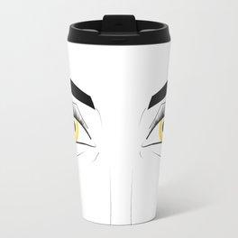 Woman with Golden Eyes Travel Mug
