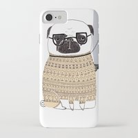pug iPhone & iPod Cases featuring Pug  by Phillippa Lola
