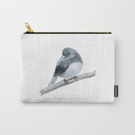 The Bashful Black-Eyed Junco by Teresa Thompson Carry-All Pouch