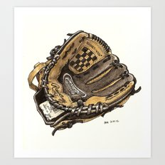 Baseball Glove Art Print