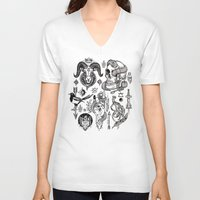 alchemy V-neck T-shirts featuring Lesser Alchemy by Polkip