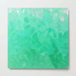 Floral Ombre (Turquoise) Metal Print