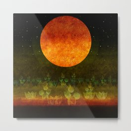 """Green Lemon & Golden Night Dream"" Metal Print"