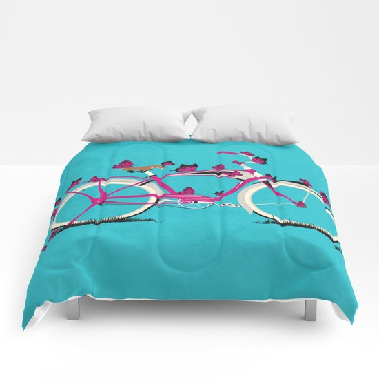 Butterfly Bicycle Comforters