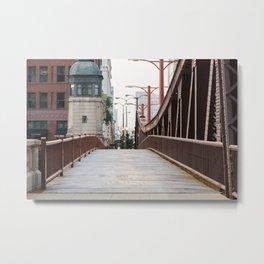 Chicago River Walk Metal Print