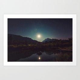 Sunny Mountain Sky Art Print
