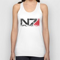 n7 Tank Tops featuring Alt Infiltrator by Draygin82