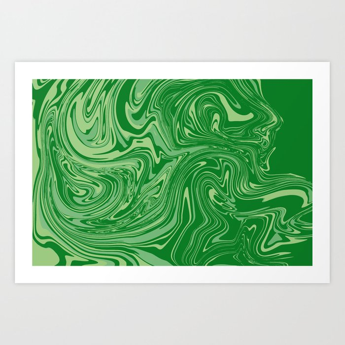 Green pastel abstract marble Kunstdrucke