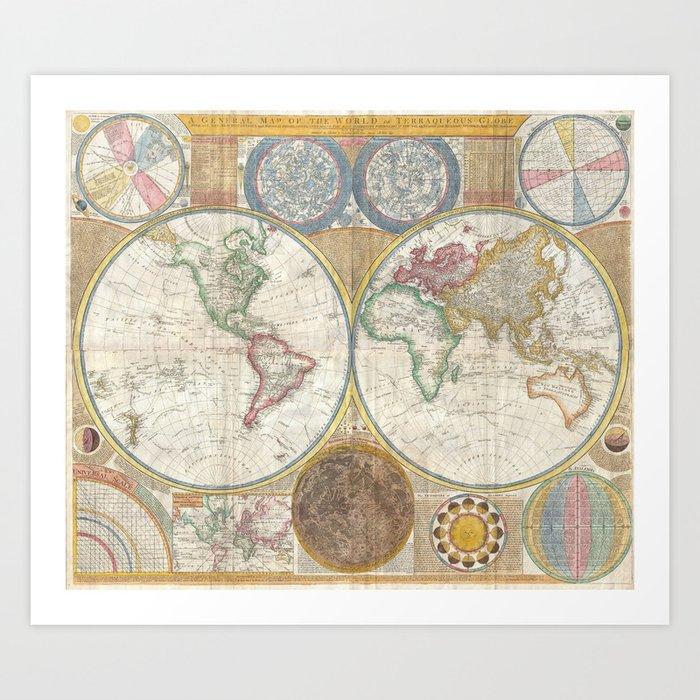 Terroqueous Globe Art Print