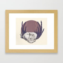 Fox & Lavender Framed Art Print