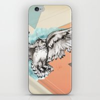 mcfly iPhone & iPod Skins featuring Owl McFly by carographic by carographic watercolor portraits
