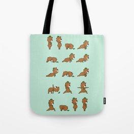 Yoga Bear Tote Bag