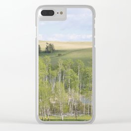 Lake and trees landscape Clear iPhone Case