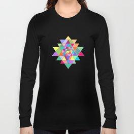 Sri Yantra triangles Long Sleeve T-shirt