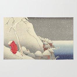 In the snow at Tsukahara on Sado Island Rug