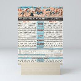Classico horaires cff et cgn r marsens Mini Art Print