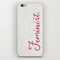 feminist iPhone & iPod Skins featuring Feminist. by Glimmersmith