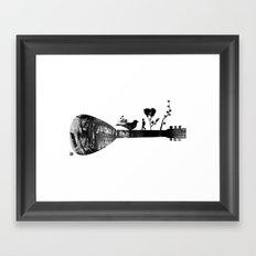 Guitar Childhood Framed Art Print