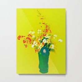 Les fleurs Lumière Metal Print