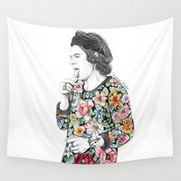 coconutwishes Wall Tapestries featuring Harry  sketch  by Coconut Wishes