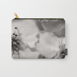 Black and White Pear Tree Bloom Carry-All Pouch