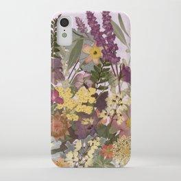 Pressed Flower English Garden iPhone Case
