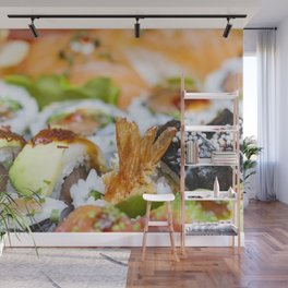 Fresh colorful sushi pieces III Wall Mural