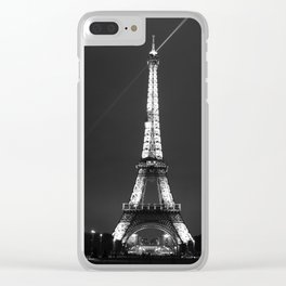 Eiffel Tower with spotlights Clear iPhone Case