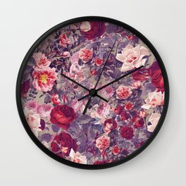 Flowery frame Wall Clock
