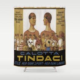 Vintage poster - Calotta Tindaci Shower Curtain