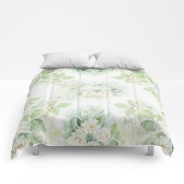 White roses bouquet watercolour painting Comforters