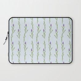 Modern artistic pastel blue lavender watercolor floral pattern Laptop Sleeve