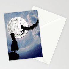 fly me to the moon 2 Stationery Cards