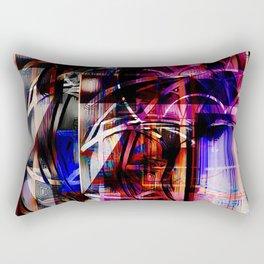 Abstract Overlay Rectangular Pillow