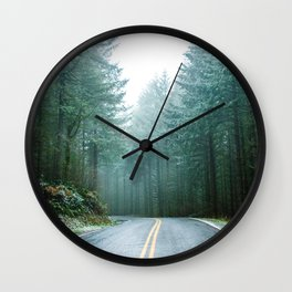 Forest Road Trip Wall Clock