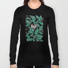 Happy Sloth – Tropical Mint Rainforest Long Sleeve T-shirt
