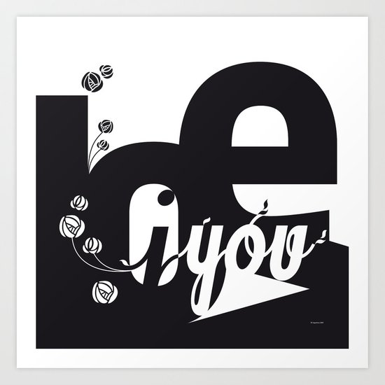 I Love You 3 Art Print