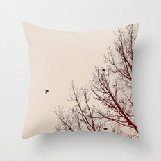 Umber Days Throw Pillow