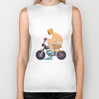 honda Biker Tanks featuring #2 HONDA Z50 by Brownjames Prints