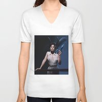 alien V-neck T-shirts featuring alien by Roman Belov