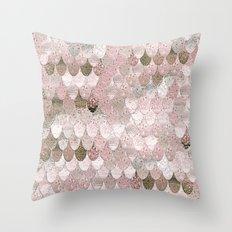 SUMMER MERMAID NUDE ROSEGOLD by Monika Strigel Throw Pillow