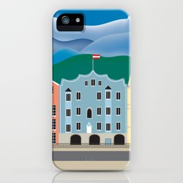 Innsbruck, Austria - Skyline Illustration by Loose Petals iPhone Case