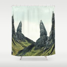 Isle of Skye Abstract Shower Curtain