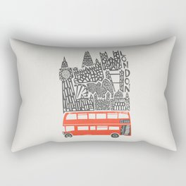 London Cityscape Rectangular Pillow