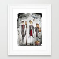 potter Framed Art Prints featuring Potter Love by Jena Sinclair